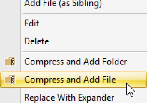 Compress & Add File