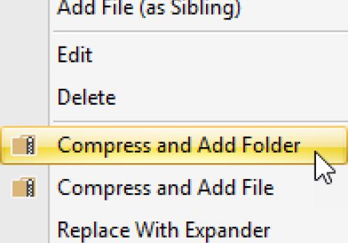 Compress & Add Folder